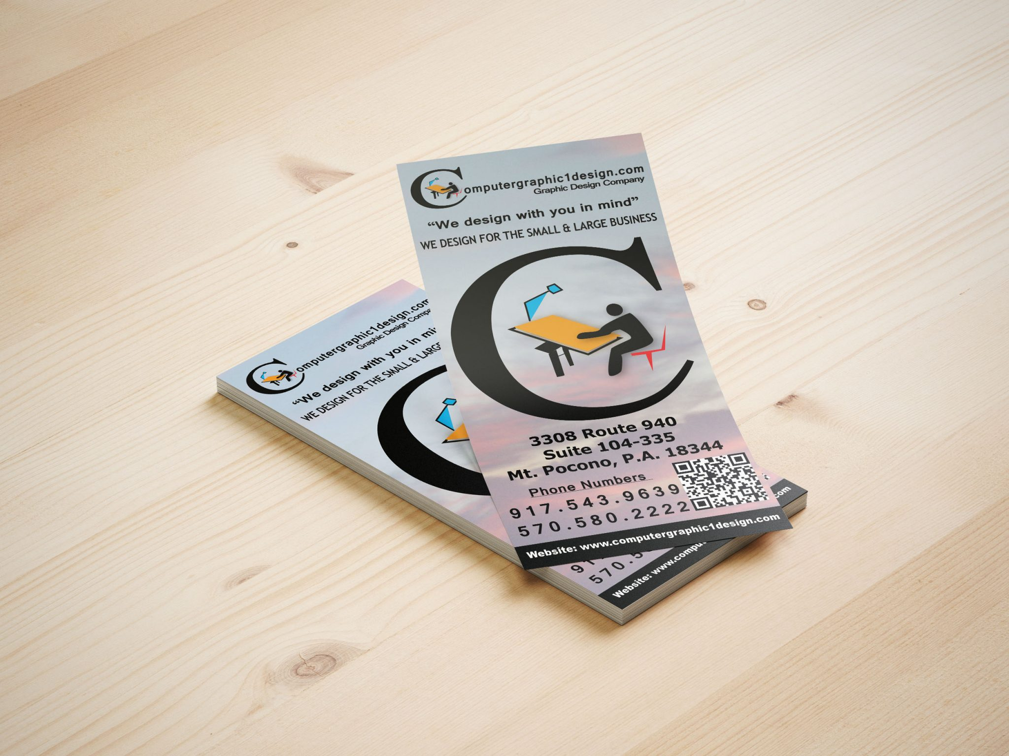 Rack Card & Buck slips  design