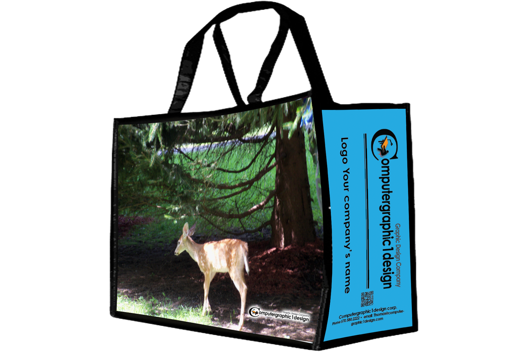 Custom design handbag deer